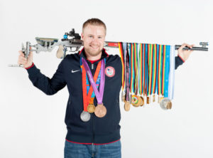 Emmons with medals